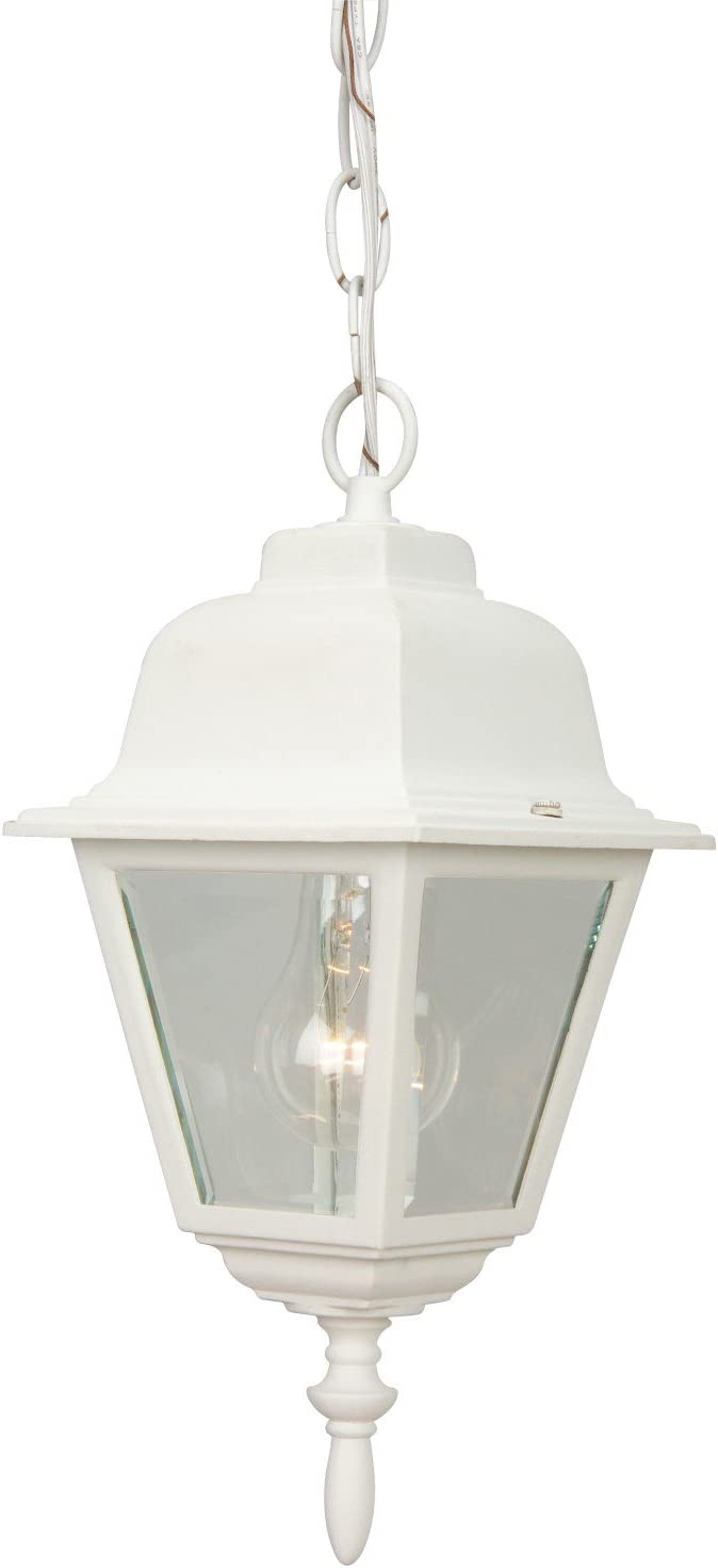 Craftmade Z171-TW Coach Lights Outdoor Lantern Pendant Lighting, 1-Light, 60 Watts, Textured Matte White 6 W x 14 H