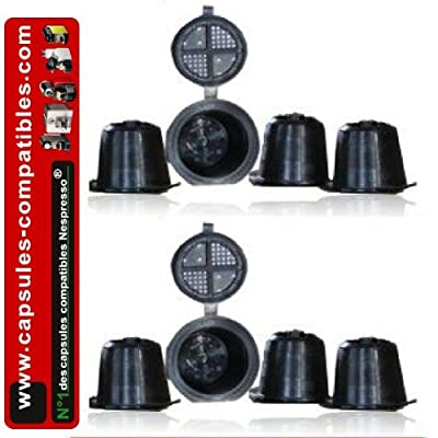 Coffeduck 8 capsules compatibles Nespresso® noires