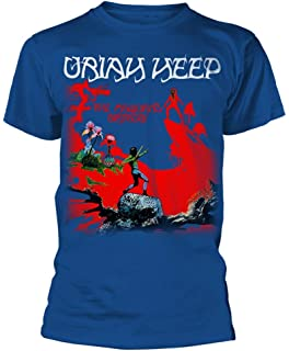 597730ea9c0 Amazon.com  Rock   Roll T Shirts Uriah Heep Dusk Blue Outsider Album ...