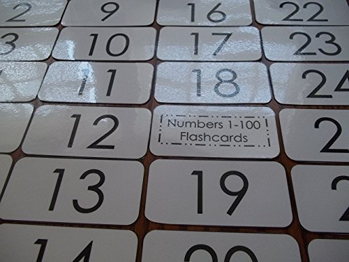 100 laminated Preschool Numbers 1-100 Math Flashcards.