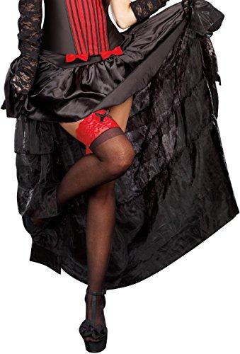 Dreamgirl Women's Burlesque Skirt, Black, X-Large]()