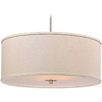 Modern drum pendant light with cream linen shade ceiling pendant modern drum pendant light with cream linen shade aloadofball Choice Image