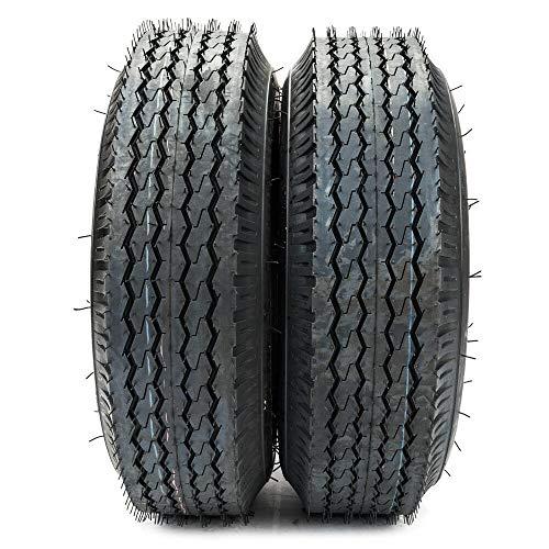 (2PCS 4.80-8 Trailer Tire Load Range B 4 PR Bias Boat Tubeless Tires 4.80-8 4.80x8 4.80/4.00-8)