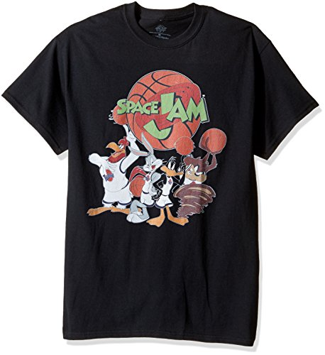 warner-brothers-mens-spinning-ball-space-jam-tee-graphic-t-shirt-black-large