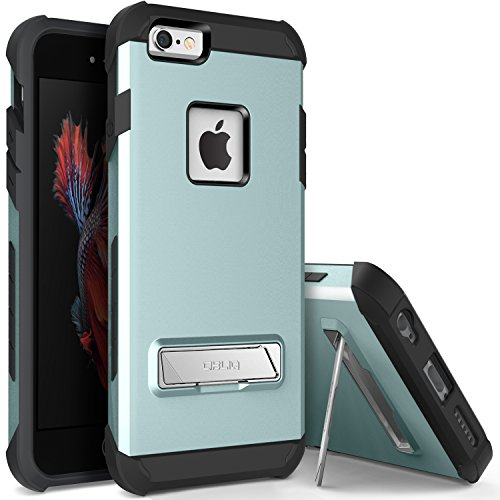 iPhone 6S Case, OBLIQ [Skyline Advance][Mint] with Metal Kickstand Thin Dual Layered Metallic Heavy Duty Hard Protection Hybrid Case for iPhone 6S (2015) & iPhone 6 (2014)