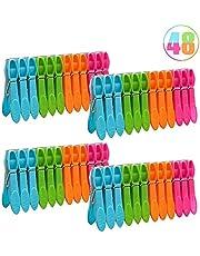 YUIP 48 Piezas Pinzas de Plástico, Pinzas de Plástico a Prueba de Viento para Tendedero o Tendedero/Ropa de Cama/Toalla de Playa/Toalla de Baño, etc.