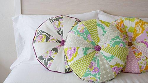 Round Button Cartwheel Pillow -