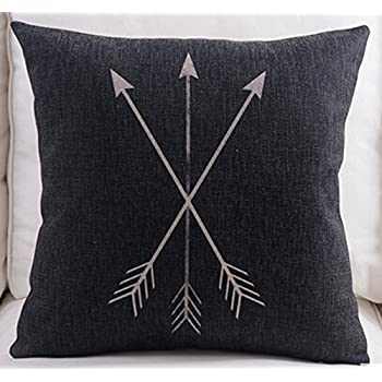 Feather Arrow Magic squares Cotton Linen Throw Pillow Case Cushion Cover Home Sofa Decorative 18 X 18 Inch