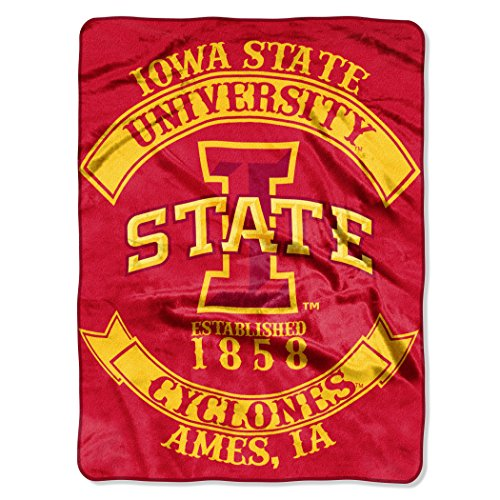 NCAA Iowa State Cyclones Rebel Plush Raschel Throw, 60