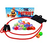 The Patriot Water Balloon Launcher Game - Backyard Slingshot Toy - Includes 2 Splash Balls & 50 Biodegradable Balloons ...