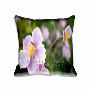 Amazon Hoverfly On A Pink Flower Pillow Case Decorative Sofa