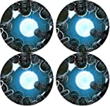 Zombies Rubber Round Coaster set (4 pack) Great Gift Idea