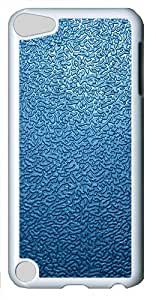 iPod Touch 5 Case and Cover -Blue Traces The Background 2 PC case Cover for iPod Touch 5¨C White