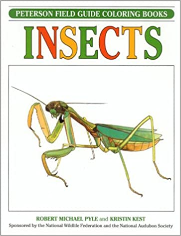 Insects Peterson Field Guide Coloring Books Robert Michael Pyle Kristin Kest Roger Tory 9780395670880 Amazon