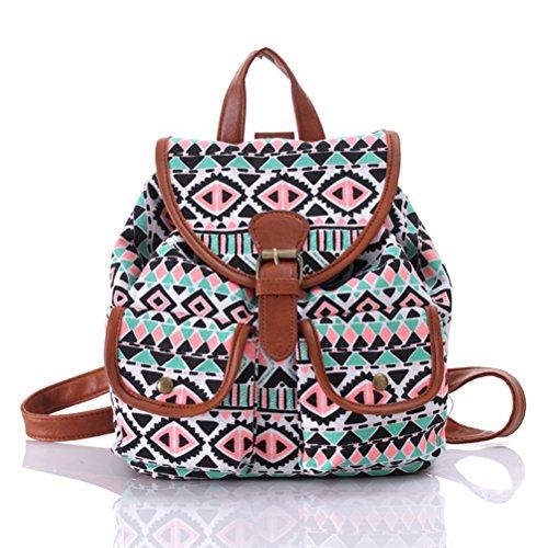 Pixnor Chicas damas mujeres lona morral mochila escuela bolso Casual bolso mochila