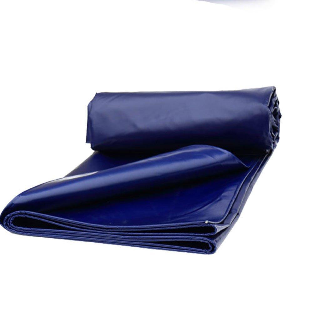 MONFS Home Außenzelt Plane Zelt dicken Wasserdichten Sonnenschutz LKW Poncho verschleißfesten Korrosionsschutz (Farbe   Blau, Größe   4x5M)