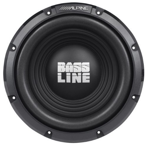 "Alpine SWA-10S4 10"" 750 Watts Peak / 250 Watts RMS 4-Ohm Bass Line Series Car Subwoofer"