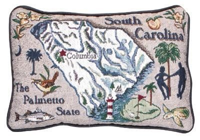 Carolina Decorative Pillow - Simply South Carolina State Pillow
