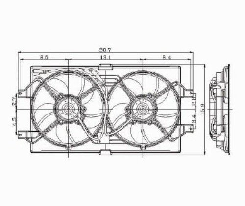 Go-Parts » Compatible 1999-2001 Chrysler LHS Engine/Radiator Cooling Fan Assembly Performance CH3115103 Replacement For Chrysler LHS ()