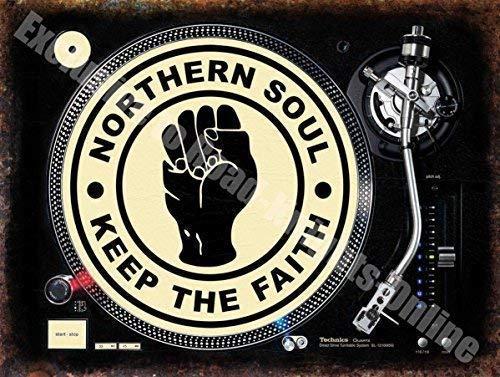 Northern Soul Keep the Faith bandejas DJ Tocadiscos Fist ...