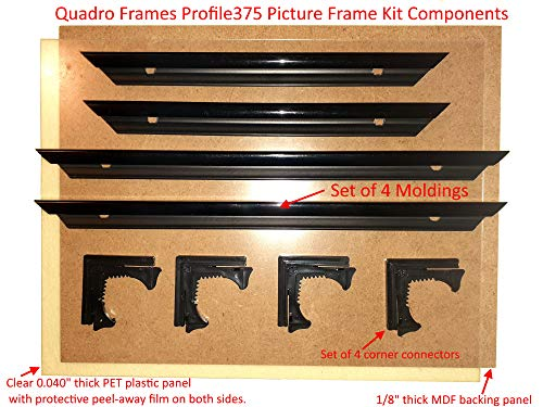 Quadro Frames 8x8 inch Picture Frame KIT Style P375-3//8 inch Wide Molding