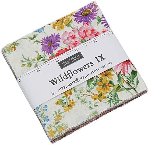 (Wildflowers IX Charm Pack by Moda Classics; 42-5 Inch Precut Fabric Quilt Squares)