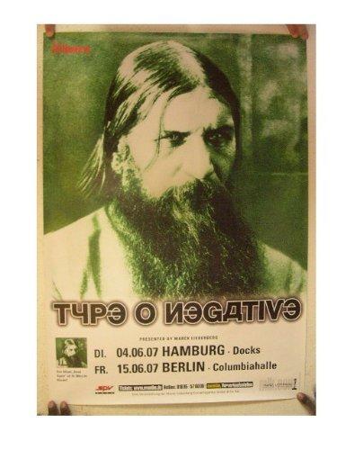 Type O Negative Poster German Tour Type-O-Negative