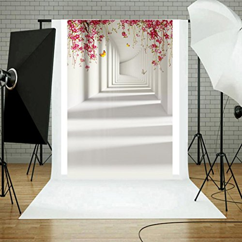 YJYdada Vinyl Wood Wall Floor Photography Studio Prop Backdrop Background 3x5FT (F) Photo #3