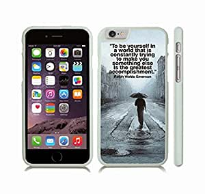 "iStar Cases? iPhone 6 Plus Case with ""There's no such thing as too many owls"" Funny, Cream Font, Owl Poster , Snap-on Cover, Hard Carrying Case (White)"