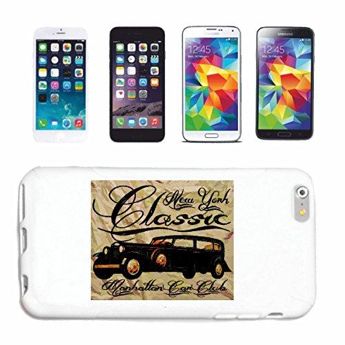 """cas de téléphone iPhone 7 """"NEW YORK MANHATTAN CLASSIC CAR CLUB HOT ROD CAR US Mucle CAR V8 ROUTE 66 USA AMÉRIQUE"""" Hard Case Cover Téléphone Covers Smart Cover pour Apple iPhone en blanc"""