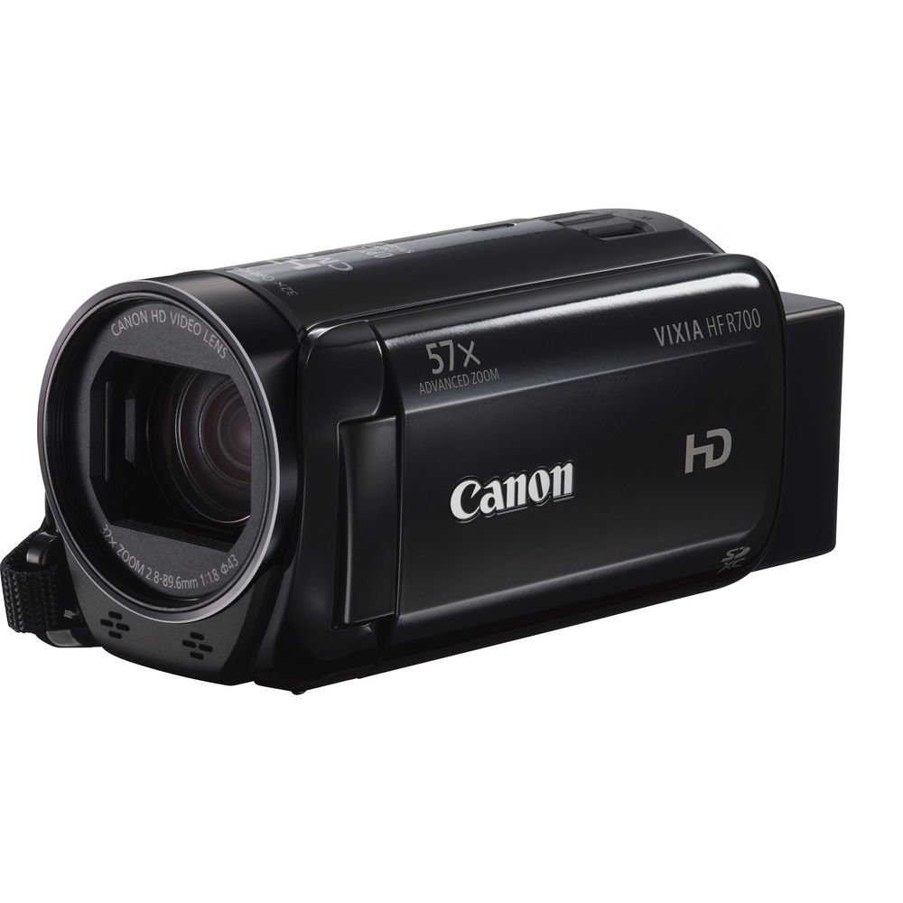 Canon VIXIA HF R700 Full HD Camcorder with 57x Advanced Zoom, 1080P Video, 3'' Touchscreen and DIGIC DV 4 Image Processor - Black (Certified Refurbished)