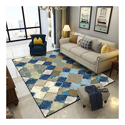 Carpet Vintage American Large Area Rugs Geometric Moroccan Ethnic Bedroom Living Room Non-Slip Floor Mat Home Decor Sofa…