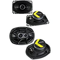 2) Kicker 41DSC464 4x6 120W 2-Way + 2) 41DSC6934 6x9 360W 3-Way Car Speakers