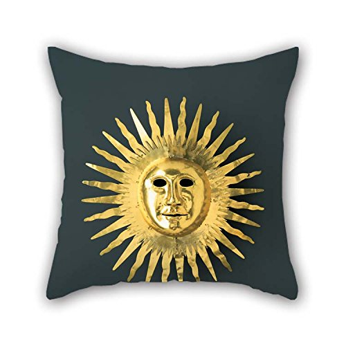 Pillowcase Of Oil Painting Johann Melchior Dinglinger - Sun Mask With Facial Features Of August II (the Strong) As Apollo, The Sun God For Husband Indoor Saloon Christmas Monther Divan 16 X 16 Inc]()