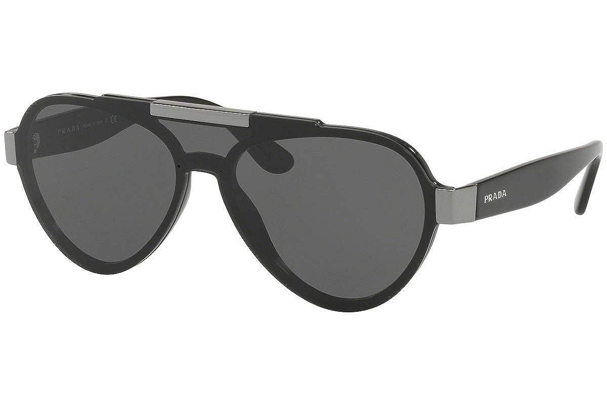 ef58d4057001 Amazon.com  Prada PR01US Sunglasses Black w Grey 44mm Lens 1AB5S0 SPR01U PR  01US SPR 01U  Clothing