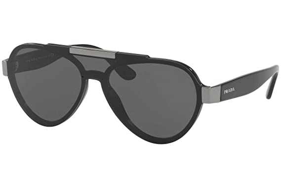 775c099bb629 Image Unavailable. Image not available for. Color  Prada PR01US Sunglasses  Black ...