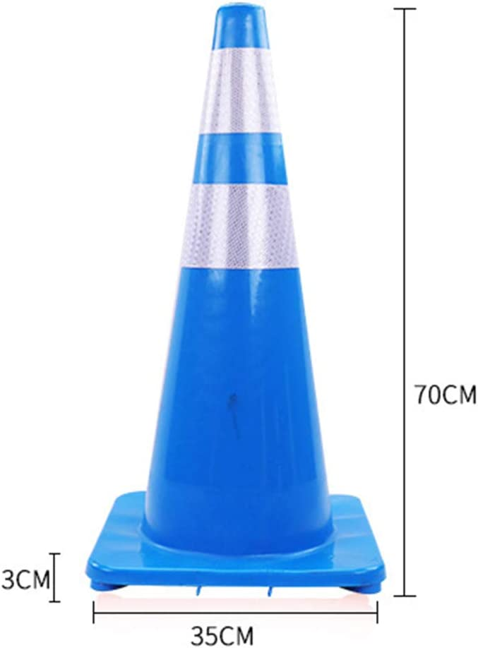 Reflective Collars Fluorescent Hazard Cones Construction Cones for Traffic or Home Improvement,Lightblue,5pcs GFYWZ Traffic Cone PVC Safety Road Parking Cones