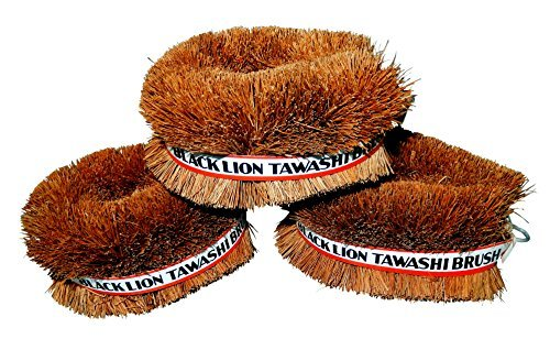 Scrub Vegetable Brush - Set of 3 Japanese Tawashi Brushes for Cleaning Fruits & Vegetables & Other Household Cleaning