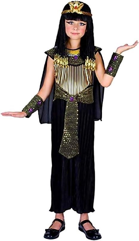 Disfraz de cleopatra chica negra egipcia 7/9 años fiestas de ...