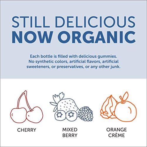 SmartyPants Vegetarian Organic Kids Daily Gummy Vitamins: Multivitamin, Gluten Free, Non-GMO, Omega-3, Probiotic, Vitamin D3, Methylcobalamin B12, Zinc; 120 Count (30 Day Supply) by SmartyPants Vitamins (Image #4)