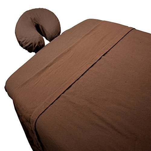 Body-Linen-Massage-Flannel-Sheet-Set-Chocolate