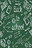 AOFOTO 3x5ft Back to School Background Blackboard Hand Drawn Doodle Photography Backdrop Chalkboard Math Formula Student Kid Child Boy Girl Artistic Portrait Photo Studio Props Video Drape Wallpaper