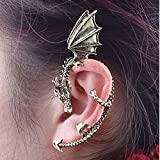 Repino 1pc Women Fashion Oriental Dragon Earring Ear Cuff Clip Earrings
