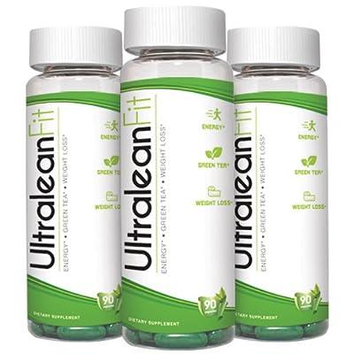 Green Tea Fat Burner Pills for Weight Loss Fast UltraleanFit 90 Softgel-Caps With 100% Natural Green Tea Extract, CLA & GLA, Boost Metabolism, Burn Calories, Enhance Focus!