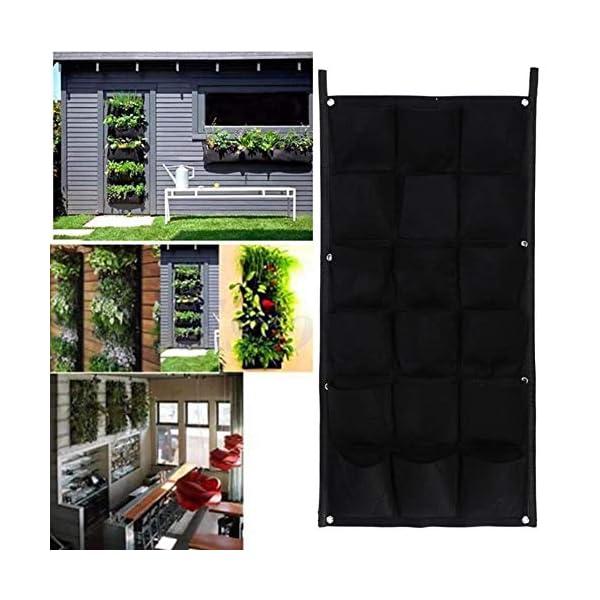 CTOBB 18 Fioriera da Giardino Verticale Tascabile da Interno Indoor Outdoor Herb Pot Decor Wall Hanging Planting Orto da… 4 spesavip