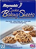 Reynolds Cookie Baking Sheets Parchment Paper, 12 x 16 Inches (Non-Stick, 22 Sheets)