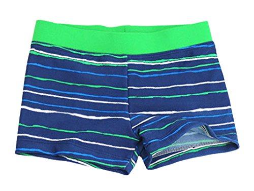 Aivtalk Kids Boys Swimming Trunks Swim Boxer Shorts Underpants, Stripe Blue, Large 3-4years