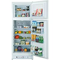 Smad Multi Way 110V/LPG Absorption Fridge Freezer Upright Refrigerator,9.3 cu ft,White