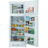 Appliances Refrigerators Rv Best Deals - SMAD RV Refrigerator 110V &Propane Fridge Up Freezer, 9.3 Cu Ft, White