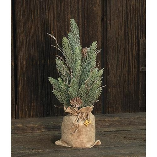 Heart of America Snowy Glitter Pine Tree In Gift Bag 12''